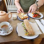 Tip top tea, baguette and full english combo. That bread was even better than it looks too!