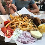 Mixed grill for 4 and there was more meat under the chips!!
