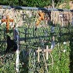 Mementos left along the fence