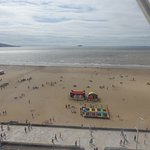 View of the beach from the top of the big wheel