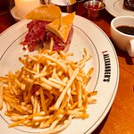 French Dip with au jus and fries