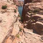 Looking thru Hole in the Rock at Lake Powell