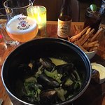 The mussels on white wine at Chambar