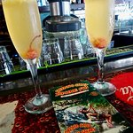 """Our Morning """"Mimosas"""" at Lulu's Bar in the Passenger Terminal"""