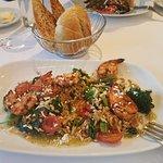 Mine was shrimp and wild rice - My wife had salmon