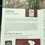 Santee State Park - wih our book stamped
