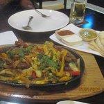 Beef fajita sizzling plate