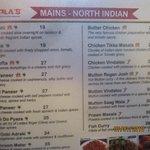Partial menu