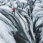 Lowered into a crevasse