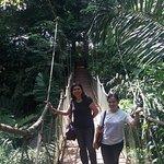 The hanging bridge with my friend Liz