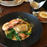duo of turbot and prawns