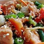 Лапша с лососем / Nūdeles ar lasi / Noodles with salmon - 4.00 EUR