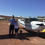 Landed safely thumbs up with Pilot Joe