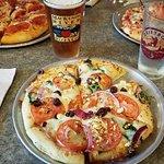 Athenian Pizza and Big Sky IPA. Yum!!