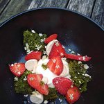 Eton Mess with a twist (The green stuff is mint cake!)