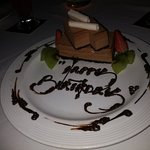 waitress dan waiter good x2 service ! Really  nice food nice view ! Thanks for the cake they pre