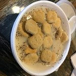 A cup of their chowder
