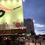 Fleming's Steakhouse is one of many places to dine at LA Live next to The Staples Center.