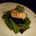 Sea Bass with Black Rice