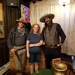 Posing with Wild Bill (left) and Jack McCall (right)