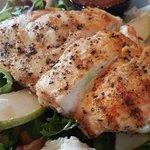 chicken on a salad