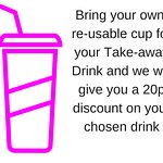 Discount for re-usable cups