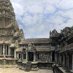 At the tower in Angkor Wat