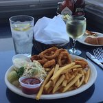 Calamari, French Fries and Cole Slaw