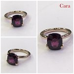 Certified 4.70ct Garnet set in 14k Rose Gold (client from the UK)