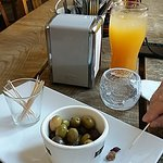 Olive nibbles while you wait (£2.49)