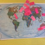 Fascinating visitor map that Jane recently put up for her customers