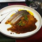 Teryaki de saumon à l'unilatéral, gingembre confit, purée de carottes des Landes déclinées