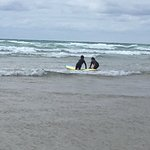 Surfing with Kingsurf at Mawgan Porth