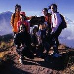 Mount batur with friends