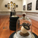 Art exhibit inside the museum