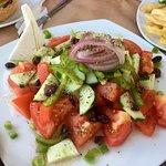 Greek salad - it was huge!