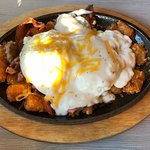 """Delicious """"the big country"""" skillet and French toast!"""