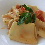 large pasta with Gurnad fish