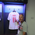 Jamie Vardy's shirt hanging in the England dressing room