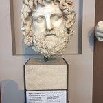 Head of a bearded god, from 175-200 A.D.