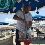 Vino on the beach