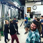 The group at the second brewery