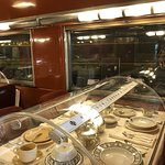 A dining car that you can walk into and explore.