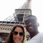 My wife and I at the Eiffel Tower