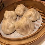 "Thanks to BroS w/his comps :) xiao long bao - steamed pork ""soup dumplings"" $14"