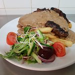 Scotch Fillet With Creamy Pepper Sauce