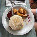 Vegetable Quesadilla, Bacon Burger, and Chicken Teriyaki