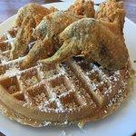 Chicken Wings & Apple Cinnamon Waffles