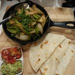 Vegetarian Fajitas - very spicy