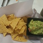 Guacamole with crisps - tasty and fresh